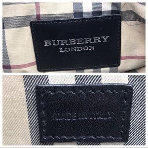 Burberry Bags - Burberry Black Pebbled Leather Tote Purse Handbag
